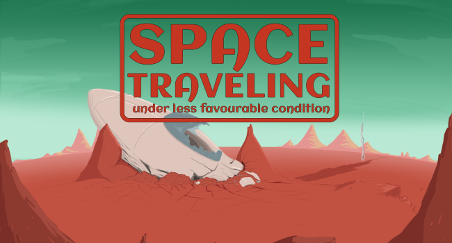 Space Traveling Under Less Favourable Condition - Title Screen
